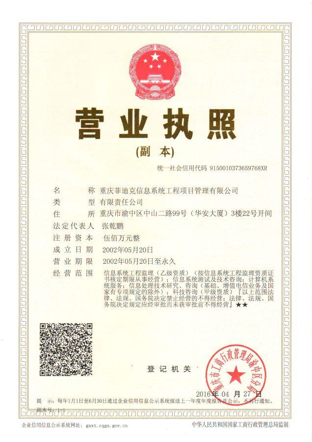 重庆菲迪克信息系统工程项目有限公司